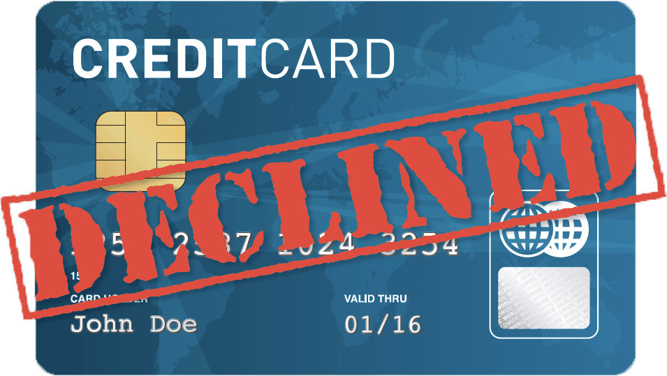 Credit Card Declined