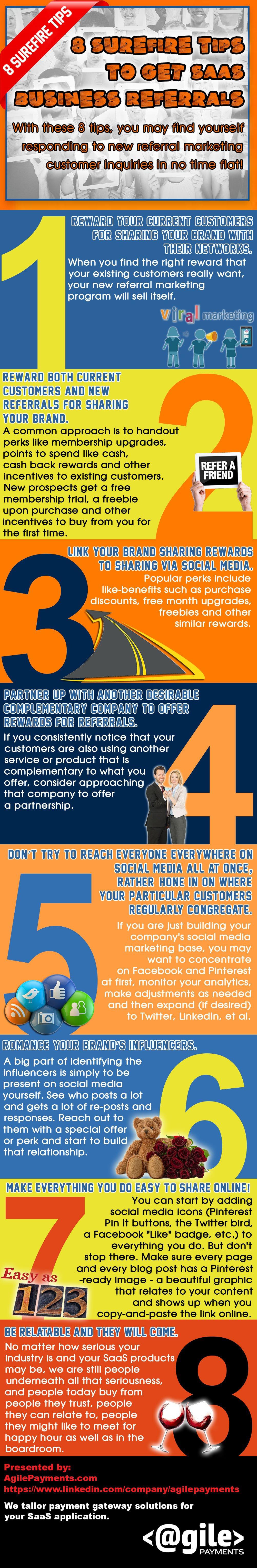 8-surefire-referral methods infographic