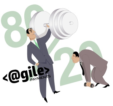 image of men working out depicting 80/20 rule