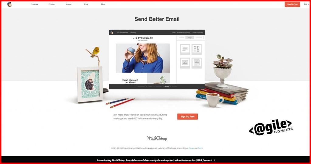 MailChimp Homepage Screenshot