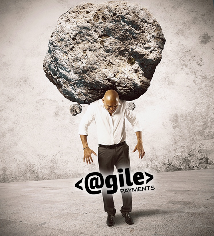 man with heavy rock
