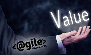 "picture of man holding the word ""value"" in his hands"