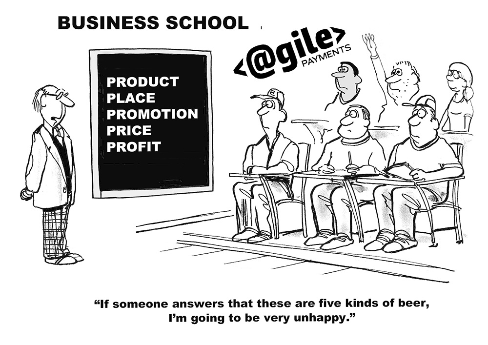 Education cartoon of professor, students and blackboard depicting stategies for inbound marketing for saas